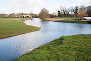 A tributary joining the River Stour at a confluence of waters at Dedham, Essex, England