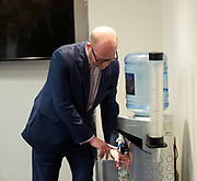 Paul Nuttall and Mike Hookem MEP launch UKIP's Fisheries policies<br /> 11th May 2017  Westminster, London, Great Britain <br /> Water cooler moment <br /> <br /> Photograph by Elliott Franks <br /> Image licensed to Elliott Franks Photography Services