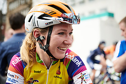 Race leader, Amy Pieters (NED) ahead of Healthy Ageing Tour 2018 - Stage 5, a 94.3 km road race in Groningen on April 8, 2018. Photo by Sean Robinson/Velofocus.com