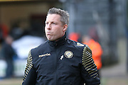 Millwall FC manager Neil Harris  during the Sky Bet League 1 match between Bradford City and Millwall at the Coral Windows Stadium, Bradford, England on 26 March 2016. Photo by Simon Davies.