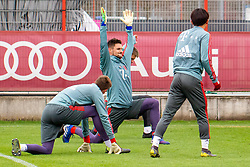 14.03.2019, Säbener Strasse, Muenchen, GER, 1. FBL, FC Bayern Muenchen vs 1. FSV Mainz 05, Training, im Bild v.l. Christian Früchtl (FC Bayern), Sven Ulreich (FC Bayern), Wooyeong Jeong (FC Bayern) // during a trainings session before the German Bundesliga 26th round match between FC Bayern Muenchen and 1. FSV Mainz 05 at the Säbener Strasse in Muenchen, Germany on 2019/03/14. EXPA Pictures © 2019, PhotoCredit: EXPA/ Lukas Huter