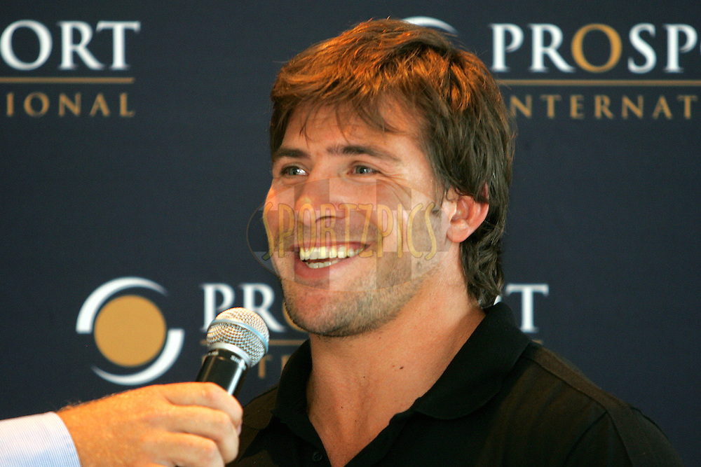 CAPE TOWN, South Africa.  12 January 2009. Schalk Brits during the Callaway Golf evening presented by Prosport International held at the Lexus Cape Town showrooms in Cape Town.photo by:  sportzpics.net