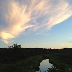 Cloud Formation Over British Canal, Castine, Maine, US