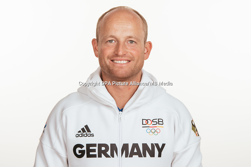 Michael Jung poses at a photocall during the preparations for the Olympic Games in Rio at the Emmich Cambrai Barracks in Hanover, Germany, taken on 18/07/16 | usage worldwide