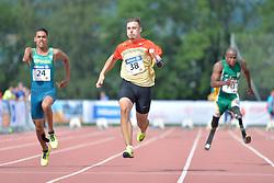 04/08/2017; Ruan de Moraes, Thomaz, F47, BRA, Grolla, Phil, F46, GER, Mahlangu, Ntando, F42, RSA at 2017 World Para Athletics Junior Championships, Nottwil, Switzerland