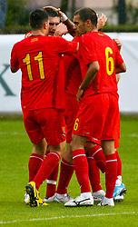 29.05.2010, Bischhofshofen, AUT, Freundschaftsspiel, Mazedonien vs Aserbaidschan, im Bild Torjubel Mazedonien, EXPA Pictures © 2010, PhotoCredit: EXPA/ R.Hackl / SPORTIDA PHOTO AGENCY