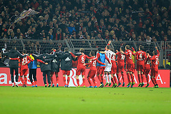 07.12.2013, Signal Iduna Park, Dortmund, GER, 1. FBL, Borussia Dortmund vs Bayer 04 Leverkusen, 15. Runde, im Bild Die Spieler von Bayer Leverkusen beim Feiern mit den Fans, Emotion, Freude, Glueck, Positiv // during the German Bundesliga 15th round match between Borussia Dortmund and Bayer 04 Leverkusen at the Signal Iduna Park in Dortmund, Germany on 2013/12/07. EXPA Pictures &copy; 2013, PhotoCredit: EXPA/ Eibner-Pressefoto/ Schueler<br /> <br /> *****ATTENTION - OUT of GER*****