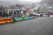 Belgium, Sunday 13th December 2015: View looking down the Raidillon corner of the Spa Francorchamps motor racing circuit during the women's race at the Hansgrohe Superprestige 2015 event.<br />