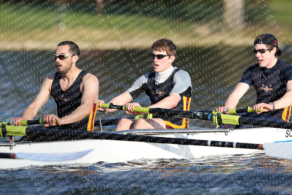 2012.02.25 Reading University Head 2012. The River Thames. Division 2. Southampton University Boat Club A IM2 8+