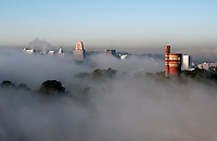 Mount Adams Fog Cincinnati Skyline