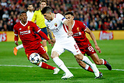 AS Roma forward Diego Perotti (8) in action  during the Champions League semi final leg 1 of 2 match between Liverpool and Roma at Anfield, Liverpool, England on 24 April 2018. Picture by Simon Davies.