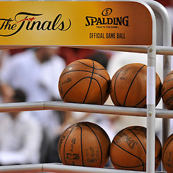 Jun 17, 2012; Miam, FL, USA; A detailed view of a basketball rack during the third quarter in game three in the 2012 NBA Finals between the Oklahoma City Thunder and the Miami Heat at the American Airlines Arena. Mandatory Credit: Derick E. Hingle-US PRESSWIRE