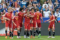 Joie Belgique / Marouane Fellaini - 07.06.2015 - France  / Belgique - Match amical<br />Photo : Andre Ferreira / Icon Sport