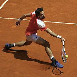 May 9, 2019 - Madrid, Spain - Jeremy Chardy of France against Novak Djokovic  of Serbia during day six of the Mutua Madrid Open at La Caja Magica on May 09, 2019 in Madrid, Spain. (Credit Image: © Oscar Gonzalez/NurPhoto via ZUMA Press)