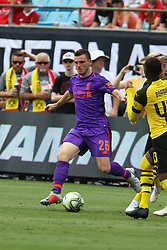 July 22, 2018 - Charlotte, NC, U.S. - CHARLOTTE, NC - JULY 22: Andrew Robertson (26) of Liverpool with the ball during the International Champions Cup soccer match between Liverpool FC and Borussia Dortmund in Charlotte, N.C. on July 22, 2018.  (Photo by John Byrum/Icon Sportswire) (Credit Image: © John Byrum/Icon SMI via ZUMA Press)
