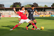 Dundee&rsquo;s Nathan Ralph evades the challenge of Brechin's trialist central defender - Brechin City v Dundee pre-season friendly at Glebe Park, Brechin, <br /> <br /> <br />  - &copy; David Young - www.davidyoungphoto.co.uk - email: davidyoungphoto@gmail.com