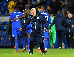 Cardiff City manager Neil Warnock celebrates at the full time whistle -Mandatory by-line: Nizaam Jones/JMP - 01/12/2017 -  FOOTBALL - Cardiff City Stadium- Cardiff, Wales-  Cardiff City v Norwich City- Sky Bet Championship