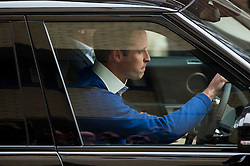 © London News Pictures. 02/05/2015. Prince William returns to  the Lindo Wing of St Mary's hospital in London with his son Prince George, following the birth of his new born baby daughter, Princess of Cambridge. Photo credit: Ben Cawthra /LNP