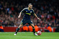 Ryan Fredericks of Middlesbrough in action - Photo mandatory by-line: Rogan Thomson/JMP - 07966 386802 - 15/02/2015 - SPORT - FOOTBALL - London, England - Emirates Stadium - Arsenal v Middlesbrough - FA Cup Fifth Round Proper.