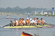 Eton Dorney, Windsor, Great Britain,..2012 London Olympic Regatta, Dorney Lake. Eton Rowing Centre, Berkshire[ Rowing]...Description;  NED M8+ .  10:51:29   Thursday  26/07/2012..[Mandatory Credit: Peter Spurrier/Intersport Images].