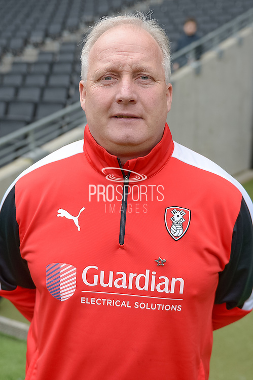 Rotherham United assistant manager Kevin Blackwell during the Sky Bet Championship match between Milton Keynes Dons and Rotherham United at stadium:mk, Milton Keynes, England on 9 April 2016. Photo by Dennis Goodwin.