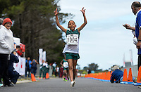 CAPE TOWN, SOUTH AFRICA - OCTOBER 08: Ashton Grootboom of ASWD wins the 1km development race during the ASA 50km and Interprovincial Race Walking Championships at Youngsfield Military base on October 08, 2016 in Cape Town, South Africa. (Photo by Roger Sedres/Gallo Images)