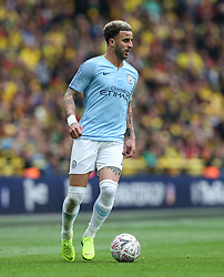 Kyle Walker of Manchester City on the ball - Mandatory by-line: Arron Gent/JMP - 18/05/2019 - FOOTBALL - Wembley Stadium - London, England - Manchester City v Watford - Emirates FA Cup Final