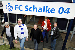Heavyweight Champion of the World Wladimir Klitschko visits Schalke 04 ahead of his big fight with David Haye which is due to take place at their homeground on 20th June 2009. Schalke 04 v Energie Cottbus in Gelsenkircen, Germany, 17th April 2009.