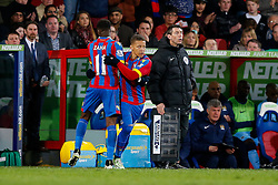 Dwight Gayle comes on for Wilfried Zaha of Crystal Palace - Photo mandatory by-line: Rogan Thomson/JMP - 07966 386802 - 06/04/2015 - SPORT - FOOTBALL - London, England - Selhurst Park - Crystal Palace v Manchester City - Barclays Premier League.