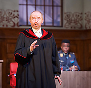 Terror <br /> by Ferdinand von Schirach <br /> directed by Sean Holmes <br /> at the <br /> Lyric Hammersmith, London, Great Britain <br /> press photocall <br /> 19th June 2017 <br /> <br /> <br /> Forbes Masson as Defence Counsel Biegler <br /> <br /> <br /> <br /> <br /> Ashley Zhangazha as Lars Koch <br /> <br /> <br /> Photograph by Elliott Franks <br /> Image licensed to Elliott Franks Photography Services