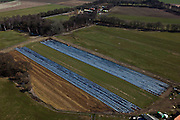 Nederland, Limburg, Gemeente Roerdalen, 07-03-2010; akkers afgedekt met landbouwplastic voor de teelt van gewassen (witlof, asperges)..Agricultural fields covered with plastic for the cultivation of vegetables (endive, asparagus)..luchtfoto (toeslag), aerial photo (additional fee required).foto/photo Siebe Swart