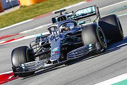 February 26, 2019 - Barcelona, Catalonia, Spain - Lewis Hamilton Mercedes-AMG Petronas during F1 test celebrated at Circuit of Barcelona 26th February 2019 in Barcelona, Spain. (Credit Image: © Mikel Trigueros/NurPhoto via ZUMA Press)