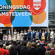 Koningsdag 2014 in Amstelveen, het vieren van de verjaardag van de koning. / Kingsday 2014 in Amstelveen, celebrating the birthday of the King. <br /> <br /> <br /> Op de foto / On the photo:  King Willem-Alexander and Queen Maxima and Princess Amalia and Princess Alexia and Princess Ariane<br /> Prince Constantijn and Princess Laurentien<br /> Princess Beatrix<br /> Princess Margiet and Pieter van Vollenhoven<br /> Prince Maurits and Princess Marilene<br /> Prince Bernhard and Princess Annette<br /> Prince Pieter-Christiaan and Princess Anita<br /> Prince Floris and Princess Aimee