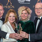 NLD/Scheveningen/20180124 - Musical Award Gala 2018, Hans Cornelissen en Ruud de Graaf, Ellen Pieters  en ......