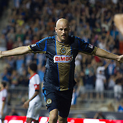 Philadelphia Union Forward CONOR CASEY (6) celebrates after scoring in 75th minute in a MLS regular season match against D.C. United Saturday. August. 10, 2013 at PPL Park in Chester PA.