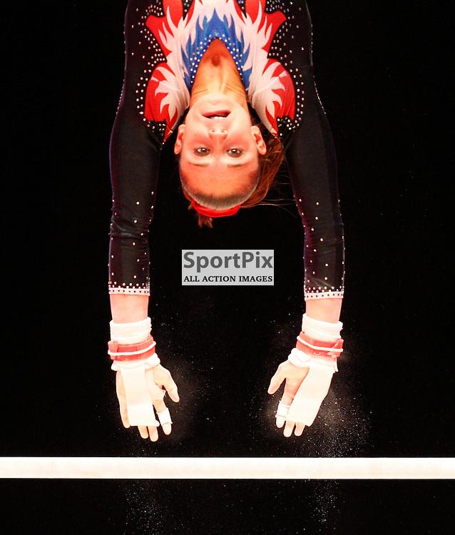 2015 Artistic Gymnastics World Championships being held in Glasgow from 23rd October to 1st November 2015..Loan His (France) competing in the Uneven Bars competition...(c) STEPHEN LAWSON | SportPix.org.uk