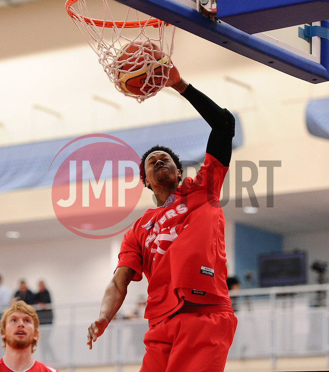 Players warm up  - Photo mandatory by-line: Joe Meredith/JMP - Mobile: 07966 386802 - 11/04/2015 - SPORT - Basketball - Bristol - SGS Wise Campus - Bristol Flyers v Glasgow Rocks - British Basketball League