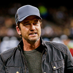 Dec 7, 2014; New Orleans, LA, USA; Actor Gerard Butler before a game between the New Orleans Saints and the Carolina Panthers at the Mercedes-Benz Superdome. Mandatory Credit: Derick E. Hingle-USA TODAY Sports