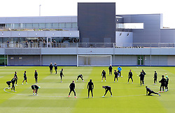 A general view as Manchester City Manager, Manuel Pellegrini watches over the training session - Mandatory byline: Matt McNulty/JMP - 25/04/2016 - FOOTBALL - City Football Academy - Manchester, England - Manchester City v Real Madrid - UEFA Champions League Training Session
