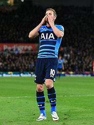 Harry Kane of Tottenham Hotspur rues a missed chance - Mandatory by-line: Matt McNulty/JMP - 18/04/2016 - FOOTBALL - Britannia Stadium - Stoke, England - Stoke City v Tottenham Hotspur - Barclays Premier League