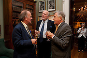 DAVID CAMPBELL; CLAUS VON BULOW; ANTONY BEEVOR, David Campbell and Knopf host the 20th Anniversary of the revival of Everyman's Library. Spencer House. St. James's Place. London. 7 July 2011. <br /> <br />  , -DO NOT ARCHIVE-© Copyright Photograph by Dafydd Jones. 248 Clapham Rd. London SW9 0PZ. Tel 0207 820 0771. www.dafjones.com.