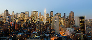 New York. elevated view. midtown cityscape  and  the chrysler building . New York - United states  / vue panoramique sur les gratte ciel de midtown , le Chrysler building,  New York - Etats-unis