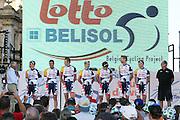 The Lotto Belisol team for the 2013 Santos Tour Down Under will be led by Team Manager Herman Frison and includes riders: Andr&eacute; Greipel (GER) , Adam Hansen (AUS), Greg Henderson (NZL), Olivier Kaisen (BEL), Jurgen Roelandts (BEL),   Marcel Sieberg (GER),  Tim Wellens (BEL) <br /> Tour Down Under Australia 2013, Cycling, road race, Radrennen, Australien -   Radsport - Rad Rennen <br /> - fee liable image: copyright &copy; ATP - Scott Jung