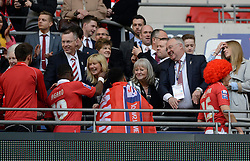 Bristol City directors congratulate the team  - Photo mandatory by-line: Joe Meredith/JMP - Mobile: 07966 386802 - 22/03/2015 - SPORT - Football - London - Wembley Stadium - Bristol City v Walsall - Johnstone Paint Trophy Final