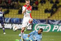 Valere Germain / Benjamin Leroy - 21.01.2015 - Monaco / Evian Thonon - Coupe de France <br />Photo : Sebastien Nogier / Icon Sport