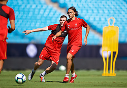 CHARLOTTE, USA - Saturday, July 21, 2018: Liverpool's Lazar Markovic during a training session at the Bank of America Stadium ahead of a preseason International Champions Cup match between Borussia Dortmund and Liverpool FC. (Pic by David Rawcliffe/Propaganda)