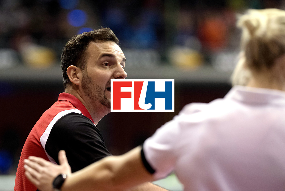 BERLIN - Indoor Hockey World Cup<br /> Quarterfinal 3: Germany - Poland<br /> foto: RACHWALSKI Krzysztof.<br /> WORLDSPORTPICS COPYRIGHT FRANK UIJLENBROEK