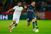 Paris Saint Germain's French defender Layvin Kurzawa vies during the French championship L1 football match between Paris Saint-Germain (PSG) and Saint-Etienne (ASSE), on August 25, 2017 at the Parc des Princes in Paris, France - Photo Benjamin Cremel / ProSportsImages / DPPI