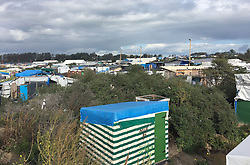 Generic view of the jungle migrant camp in Calais, France, as plans are made to clear the whole site.