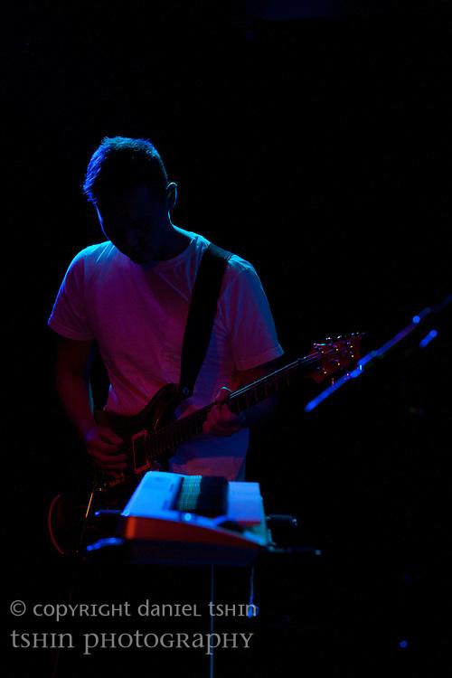 Jae Ko, guitarist of Deacons Hail playing at their CD release show at Fontana's Bar